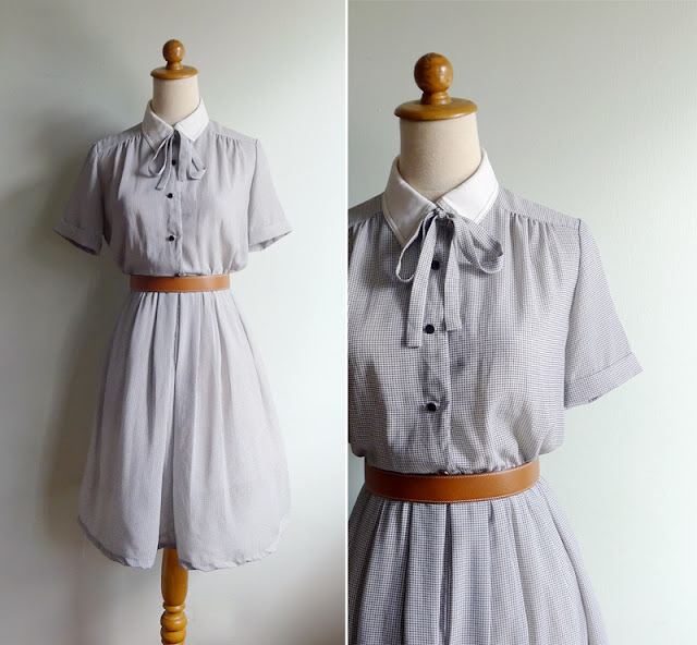 vintage white collar dress