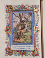 Painted miniature from Selected Poems of Robert Burns