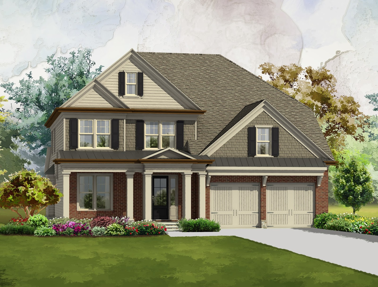 brookmere at johns creek is gated community that will feature eight single family home designs priced from the 500000s including the ansley the avery - Single Family Home Designs