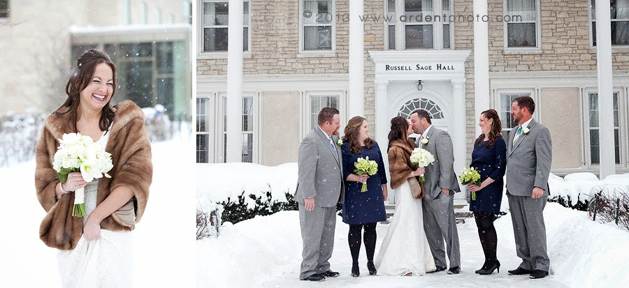 Jessica Borrowed Her Grandmother S Fur Stole To Keep Toasty Warm And Fashionable On Wedding Day What A Great Way Incorporate Your Something Old