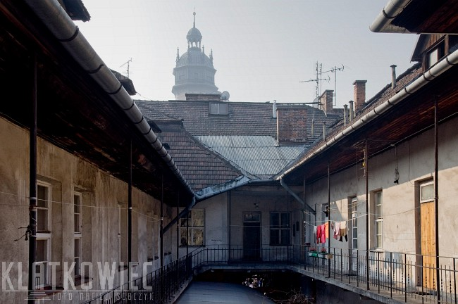 Kraków. Kazimierz. Podwórko w kamienicy.