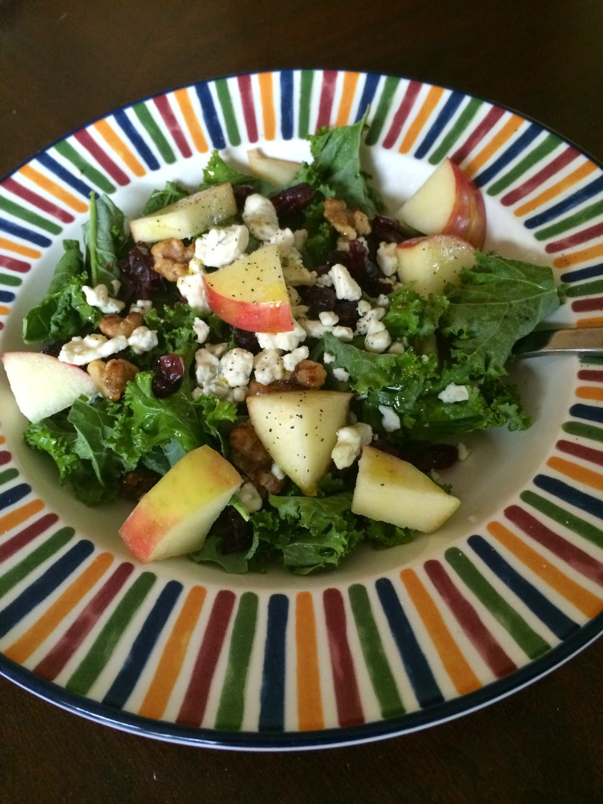 Kale - Apple - Walnut - Cranberry - Salad - Vegetarian