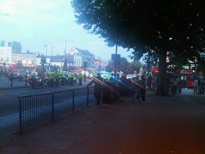 Scene at Mile End on 3rd September