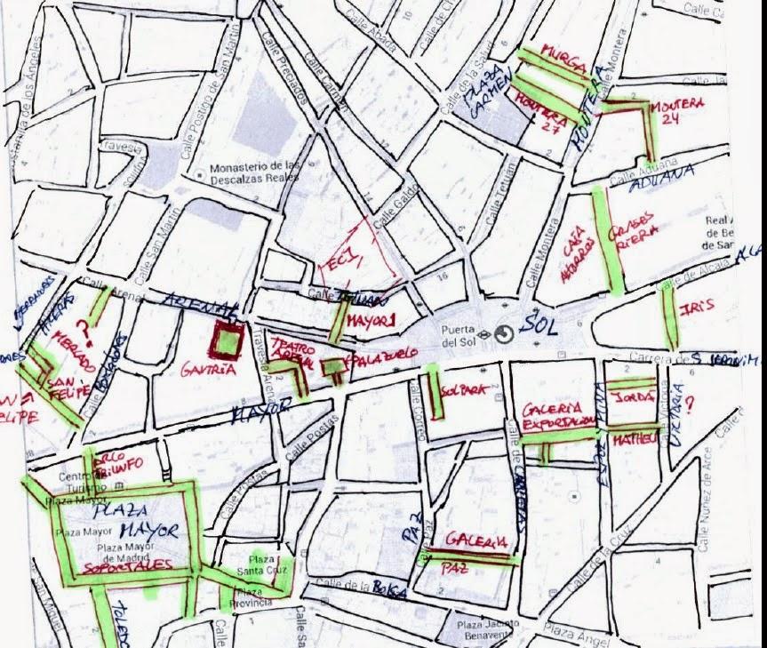 Madridmetropolis detalles de madrid la red de pasajes for Puerta del sol madrid mapa