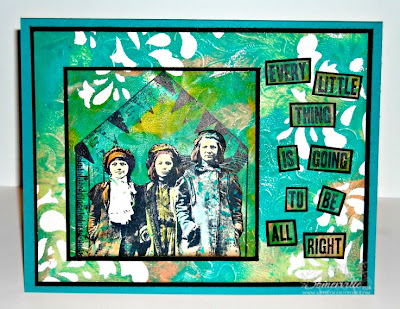Mixed Media Card using stamps from Artistic Outpost - Designer Lisa Somerville
