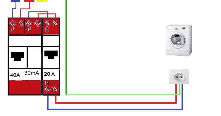 Schema electrique installer une lave linge a la norme nfc for Norme nfc 15100 salle de bain