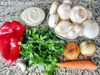 Ciuperci cu smantana ingrediente reteta