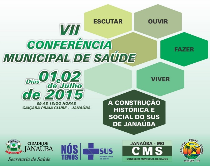 VII CONFERÊNCIA MUNICIPAL DE SAÚDE - JANAÚBA
