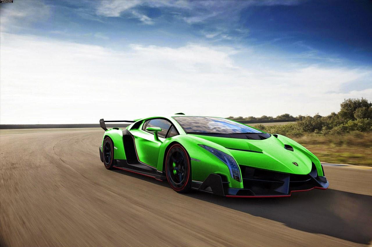 Green Lamborghini Veneno Picture
