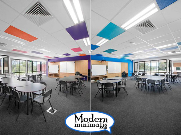 colorful space modern school interior design