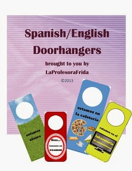 Spanish English Doorhangers Out of the Classroom