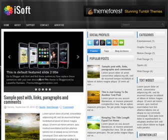 iSoft 3 ColumnBlogger Template