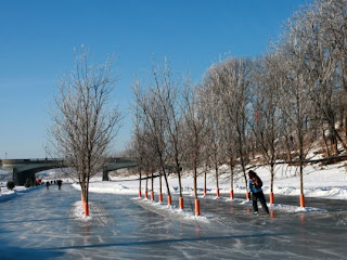 Ice path in Winnipeg
