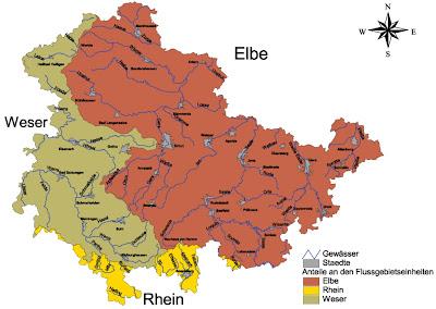 Karte der Provinz Thüringen