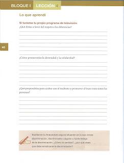 Apoyo Primaria Formación Cívica y Ética 5to grado Bloque I lección 4 Respeto y buen trato