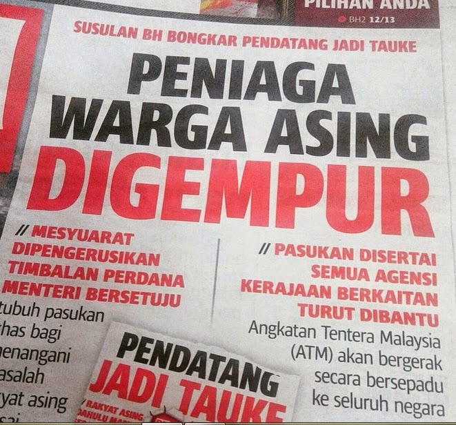 WARGA ASING JADI TAUKEY SEBAB ORANG MALAYSIA PEMALAS