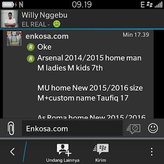 enkosa sport enkosa.com toko online baju bola terpercaya lokasi di jakarta barat Daftar pesansan Willy Nggebu di enkosa sport