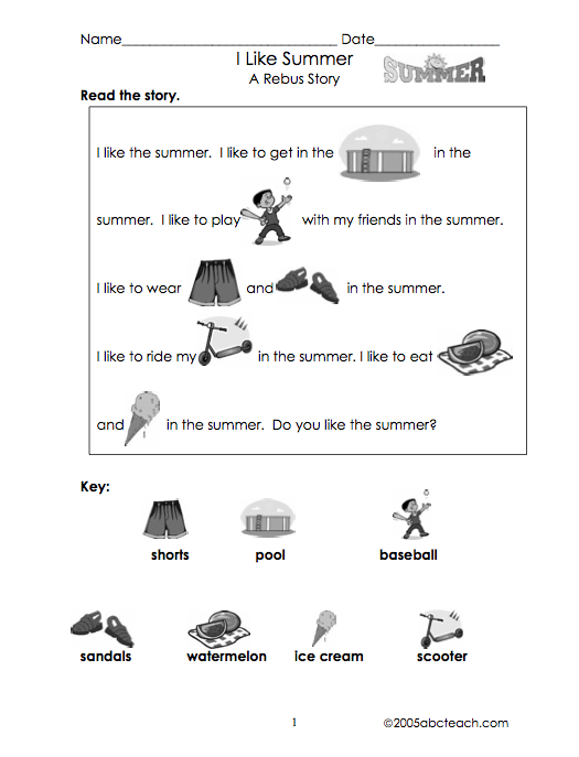 math worksheet : autism tank rebus stories free : Fill In The Blank Worksheets For Kindergarten