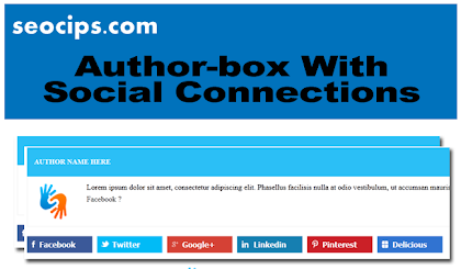 How add Author Box with Social Connection On Blogger Blog