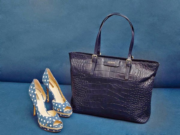 Guess bolso Croc Kerry Bag azul