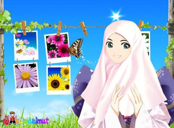 Kartun Cewe Muslimah