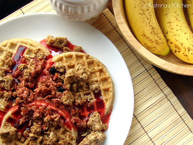 Crunchy Pomegranate Granola and Syrup #recipe from @katrinaskitchen