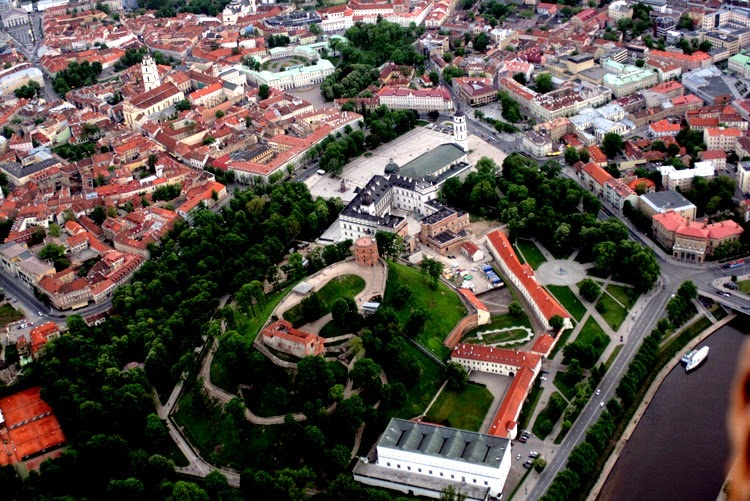 vilnius from the above