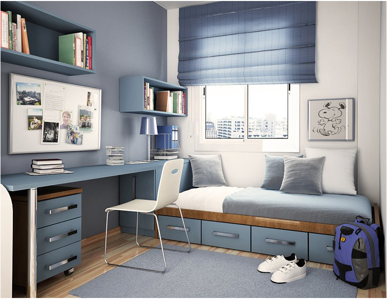 Modern design for teenage boys room design ideas for Boy small bedroom ideas