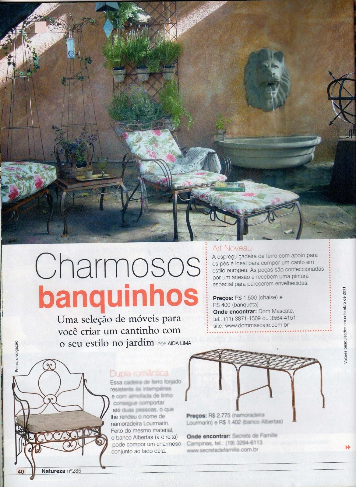 Provençal  Serralheria de Charme: Bancos de Ferro para Jardim #8A4D41 1169x1600