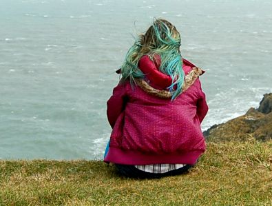 cabelo azul, mechas azuis, ombre azul no cabelo