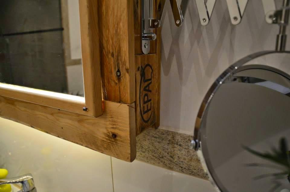 Estanteria Para Baño Con Palets: net: Mueble para el lavamanos y espejo realizado con palets
