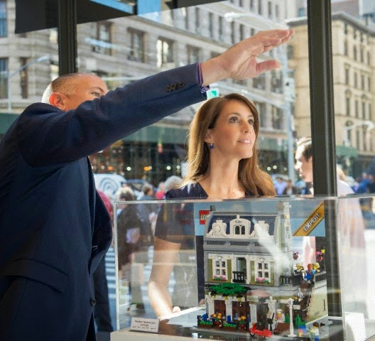 Princess Marie in New York to attends the pening the LEGO flagship Store, 26.09.2014