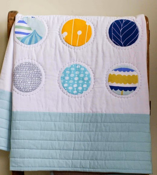 Custom Organic Baby Quilt with Dots