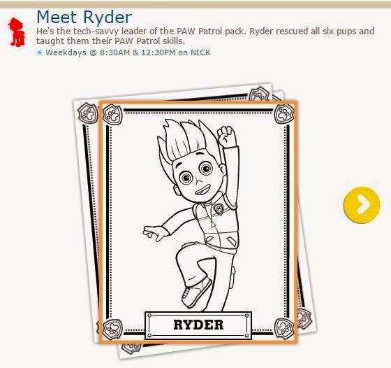 Ryder de Paw Patrol o Patrulla Canina: Hojas para Colorear para Imprimir Gratis.