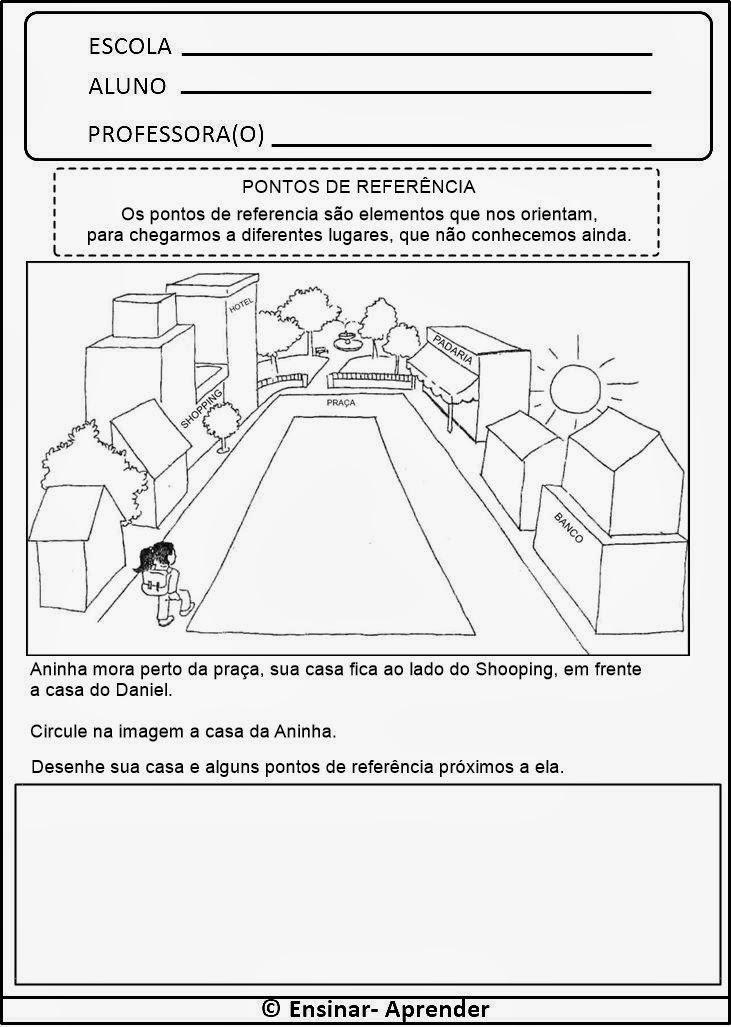 ATIVIDADES DE GEOGRAFIA PARA O TERCEIRO ANO - 3º ANO