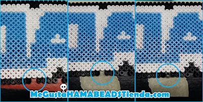 tutorial hama beads planchar una pieza suelta