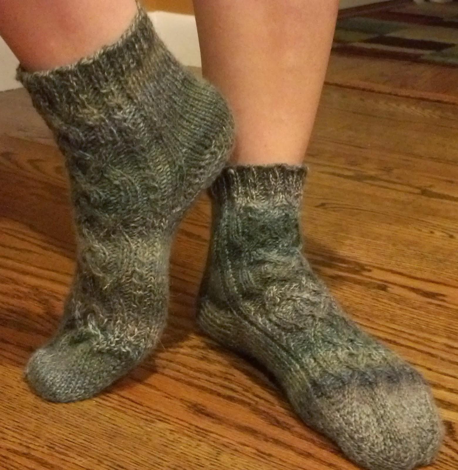 Crochet Socks Patterns Toe Up : Pattern: Celtic Cable Toe Up Socks Knit A Bit Crochet Away