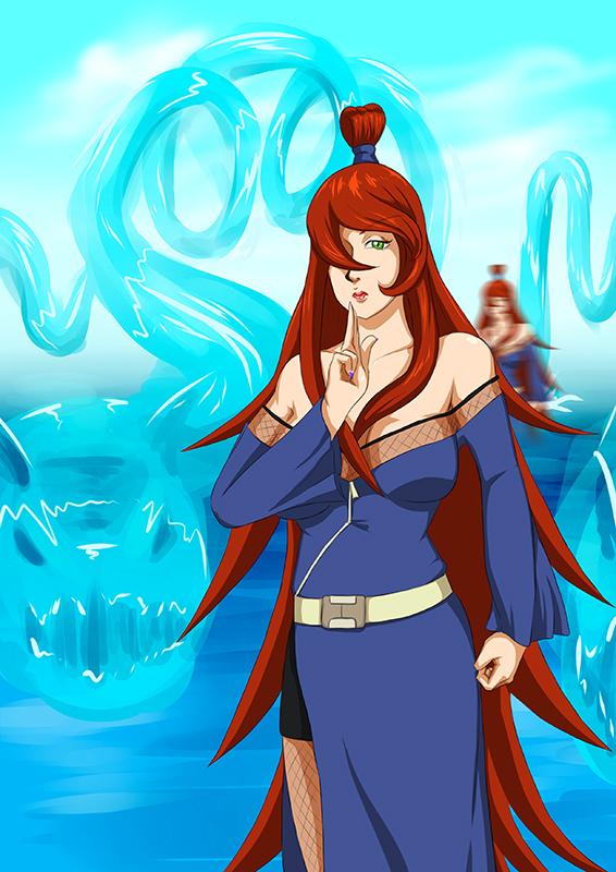 Mizukage and her Water Dragon Jutsu