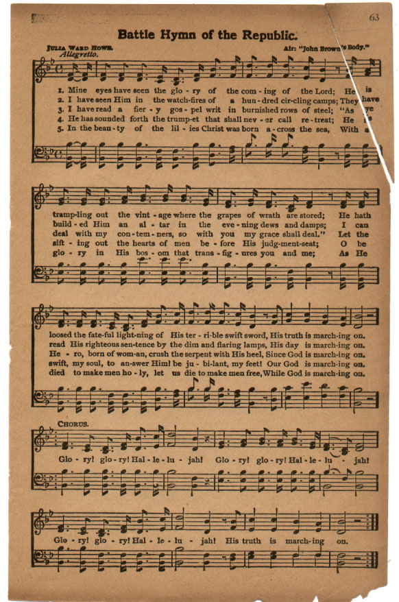 Lyric hallelujah lyrics meaning : Marching On!: Battle Hymn of the Republic: Its History and Meaning