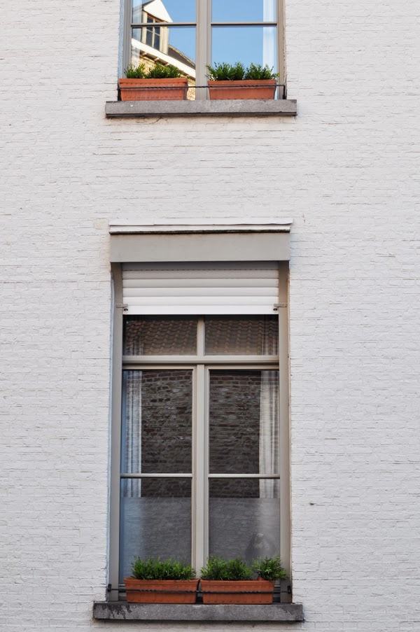 pretty windows in Bruges, Belgium.
