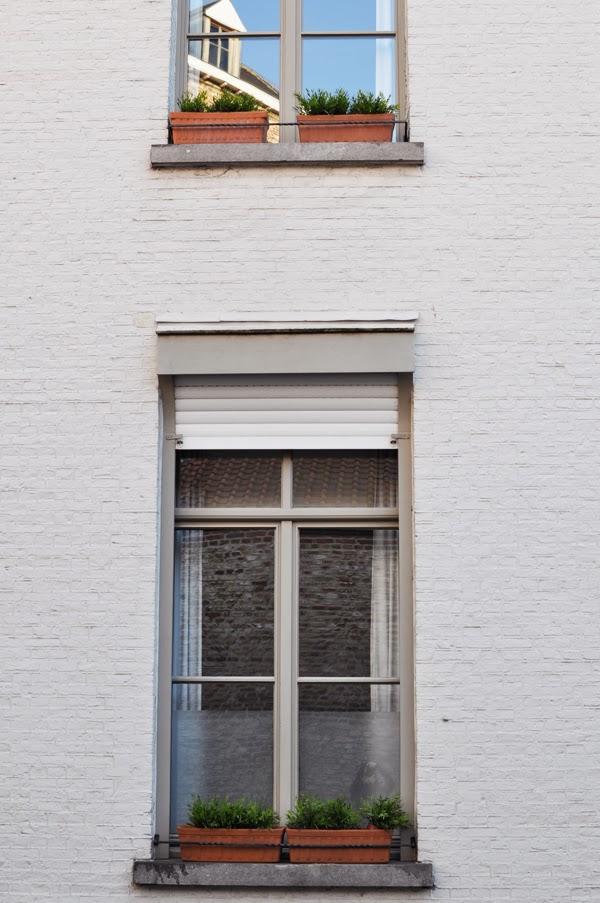 pretty windows in Bruges, Belgium.