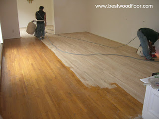 During - Sanding and refinishing hardwood floor New Jersey NJ
