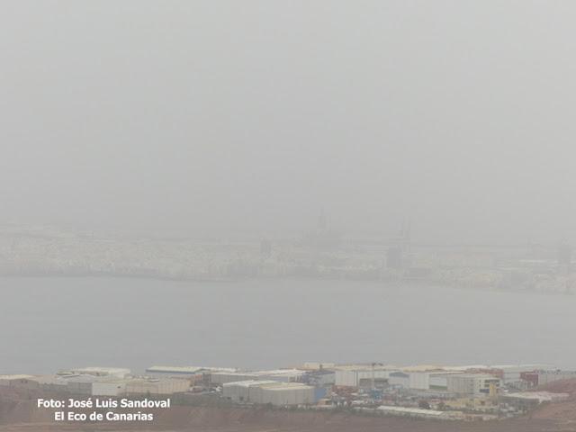 Calor, calima y viento, Gran Canaria 13 agosto