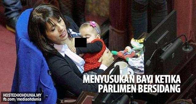 Ahli Parlimen menyusukan bayi ketika bersidang cetuskan kontroversi