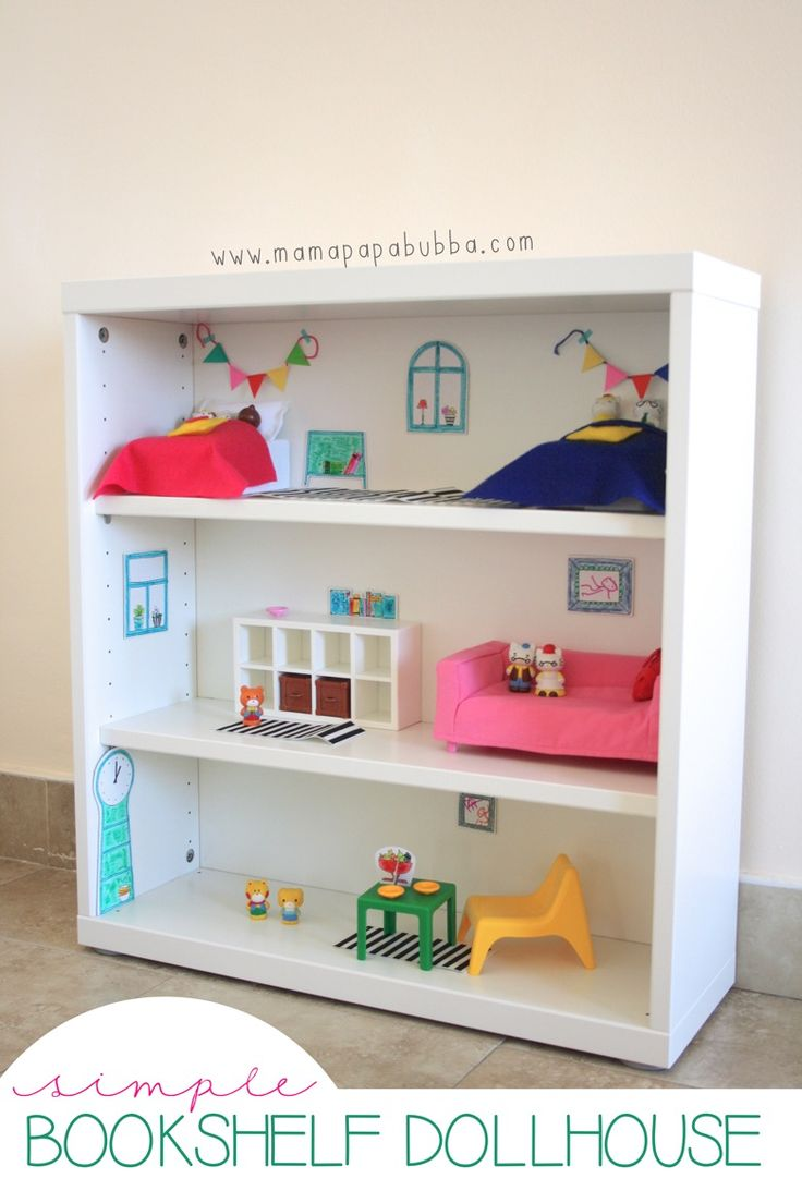 DIY Bookshelf Dollshouse