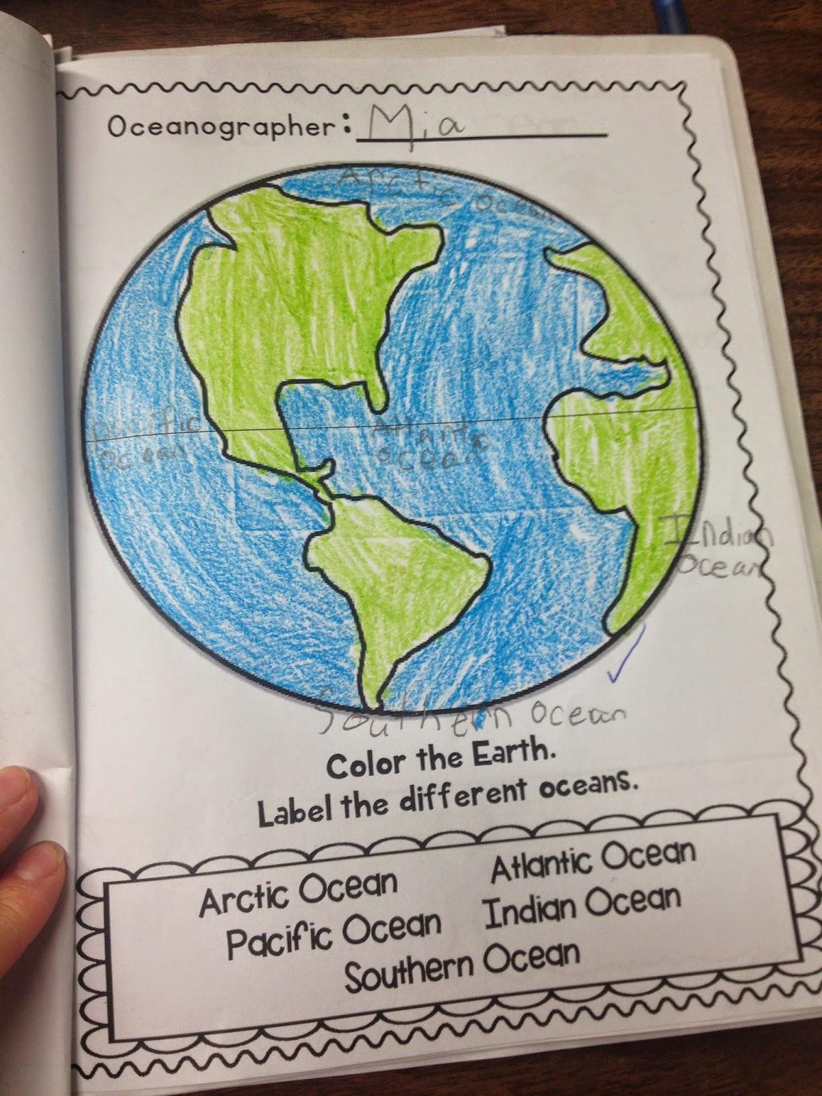 Miss Vanchus Classroom Blog Oceans - 5 different oceans