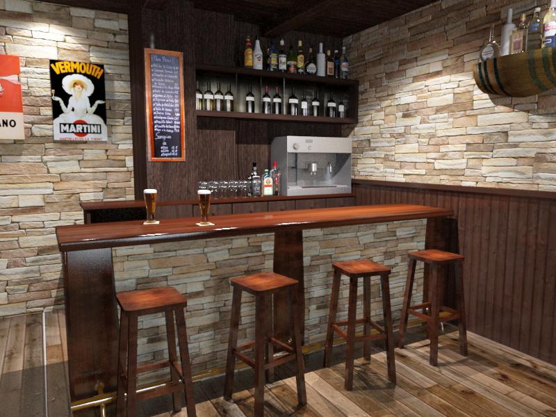 decoracion de interiores bares rusticos:BAR – CAFETERÍA
