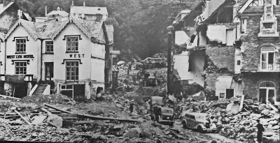 Flood Damage at Lynton in 1952