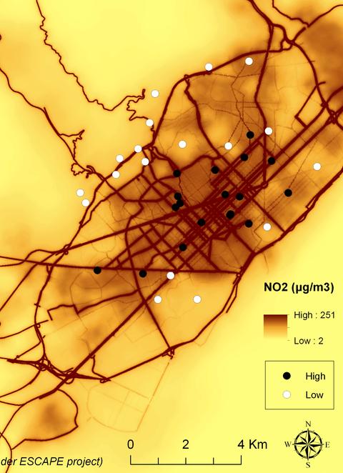 mapa contaminació BCN amb l'illa de Porta i solucions proposades