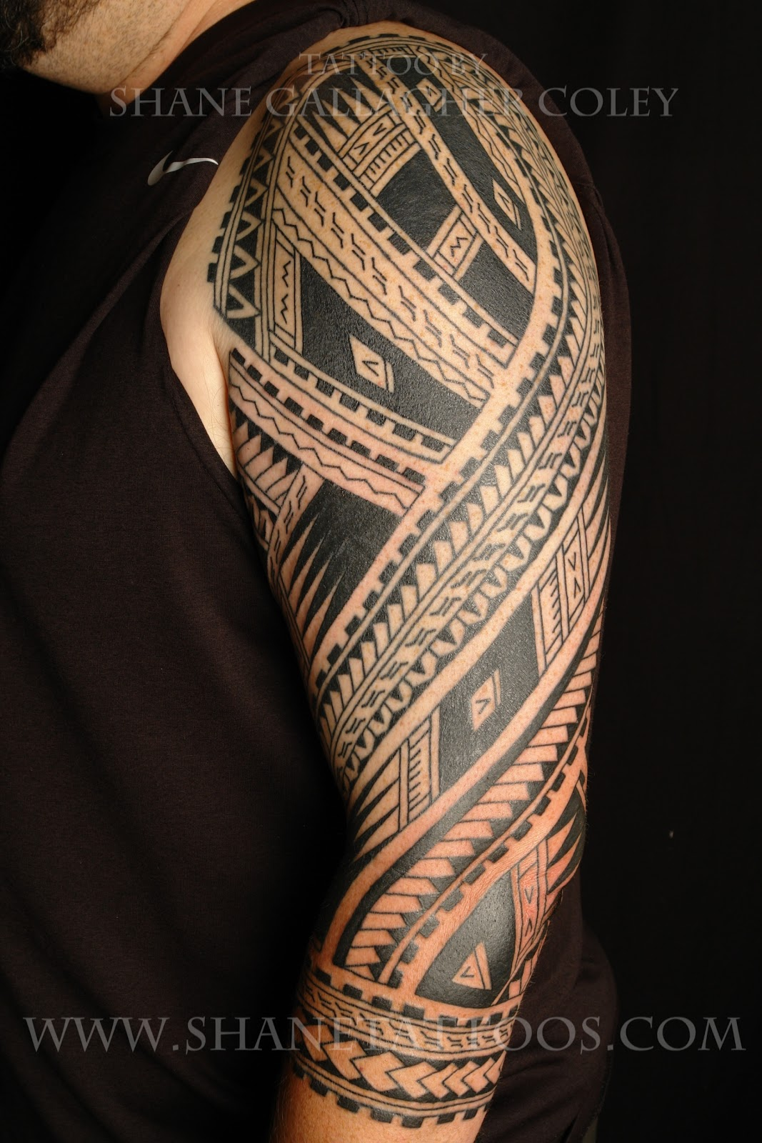 Polynesian Half Sleeve Tattoo Designs